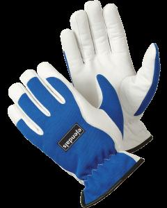 Winter-Ziegennarben/Nylon/Spandex-Handschuhe